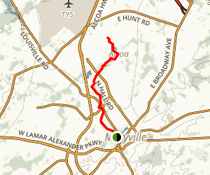 Maryville-Alcoa Greenway Map
