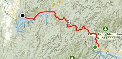 Ocoee Rive: Number 3 Dam to Parksville Lake Map