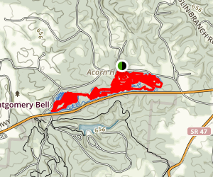 Montgomery Bell Mountain Bike Loop Map