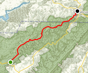 Appalachian Trail: Low Gap to Damascus Map