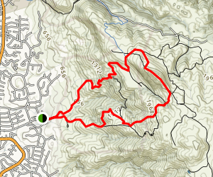 Mission Peak Loop from Stanford Avenue Staging Area Map
