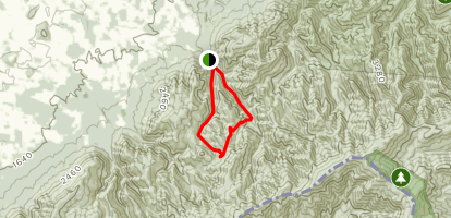 Little Jennings Creek Trail to Round Knob Campground Map