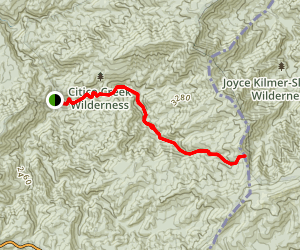 North Fork Citico Trail to Cherry Gap Map