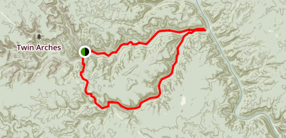 Twin Arches--Charit Creek Loop Map