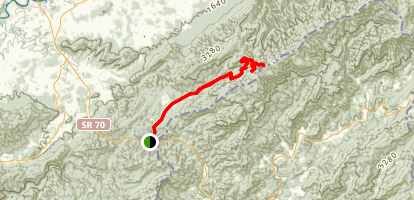 Viking Mountain Road: Allen Gap to Little Bald Mountain Map