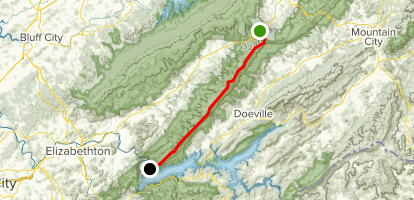 Iron Mountain Via Appalachian Trail Map