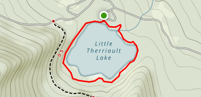 Little Therriault Lake Trail Map