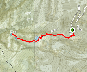 Middle Lake and Gem Lake Trail Map