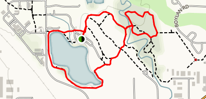 East Gallatin River Trail & Glen Lake (Bozeman Beach) Map