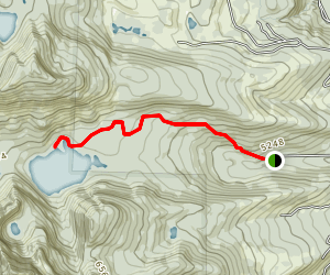 Lower Cold Lake Trail Map