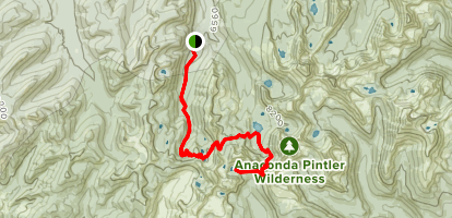 Pintler Pass and Oreamnos Lake Via Hi Line Trail Map