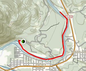 Flathead River, North Fork Map