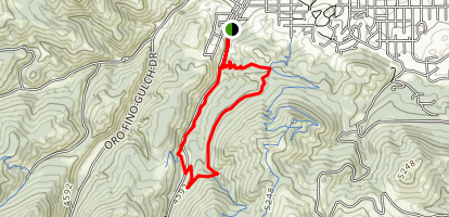 Dry Gulch Short Loop Map