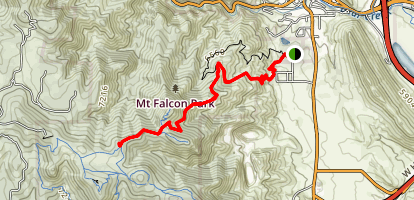 Falcon Castle Ruins Via Castle Trail Map