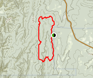 Turkey Trot Loop via Mars Court Trailhead Map