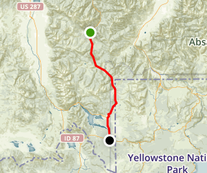 Bozeman, MT, to West Yellowstone, MT: the West Entrance Map