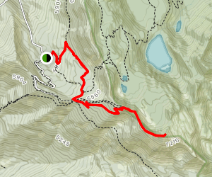 Mt Aeneas Summit Trail Map