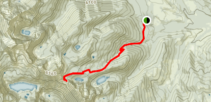 Geiger Lakes to Lost Buck Pass Trail Map
