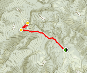 Reservation Divide East Trail to Cha-paa-qn Peak Map
