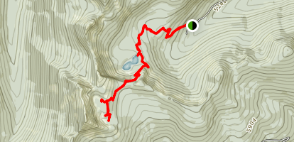 Pyramid and Ball Lakes Trail Map