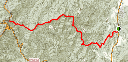 Woods Mountain Map