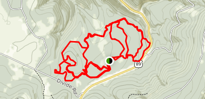 Silver Crest Cross-Country Ski Trails Map
