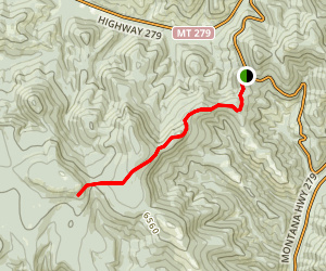Flesher Pass Trail Map