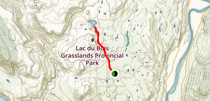 Lac du Bois Lake Map