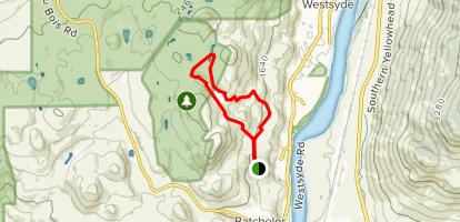 Westsyde Bench Trail Map