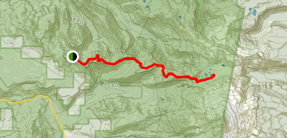 Triangulation Trail to Whitewater Trail and Rock Lake Map