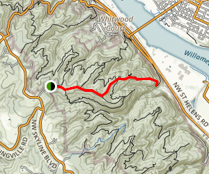 Fireland Road to Gasline Trail Map