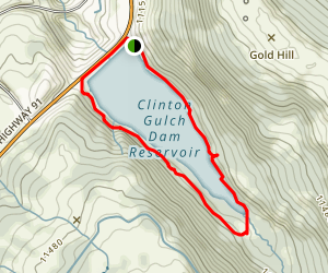 Clinton Gulch Dam Reservoir Map
