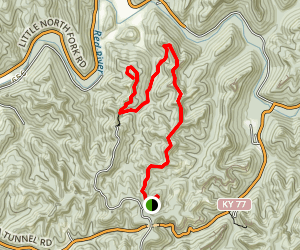 Auxier Branch Trail To Double Arch Trail Map
