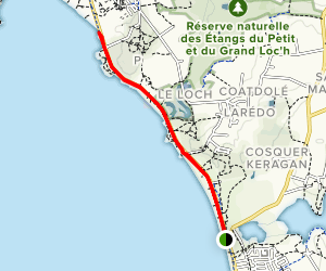 Guidel Beach Path Map