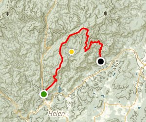 Tray Mountain Forest Service Road Map