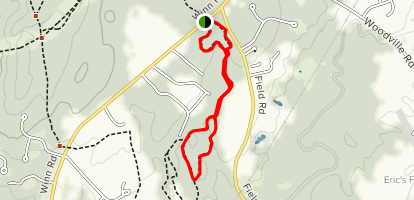 Falmouth Town Forest Loop Map