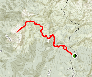 Shelly Baldy Peak  Map