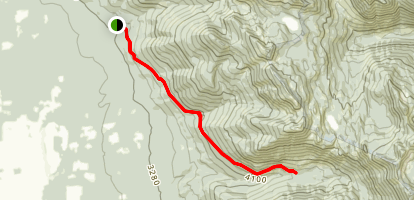 Birch Creek to Wolf Creek Trail Map