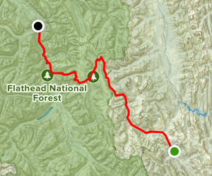 Chinese Wall Trail Map