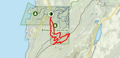 Home Run and Upper Veedol Trail Map