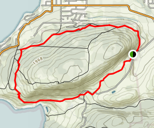 Coming Round the Mountain Loop Trail Map