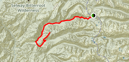 Bear Creek and Elk Ridge to Twin Butte Map