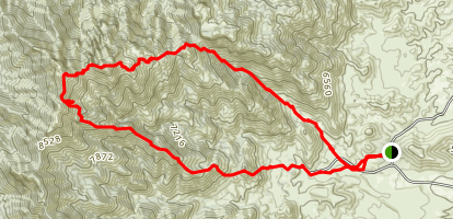 Sierra Ladrones and Ladron Peak Map