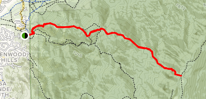 Oso Ridge Trail Map