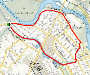 Heritage Trail and Canal Path Loop Map