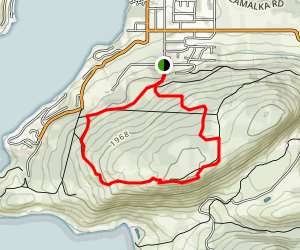 Parabola, Lookout, and the Wall Loop Trail Map