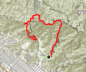 Vital Link and Stough Canyon Trails Map