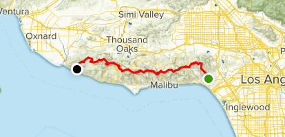 Will Rogers State Park to Ray Miller Via Backbone Trail Map