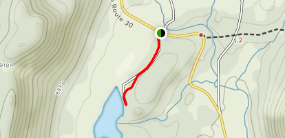 Todacheene Lake Trail Map