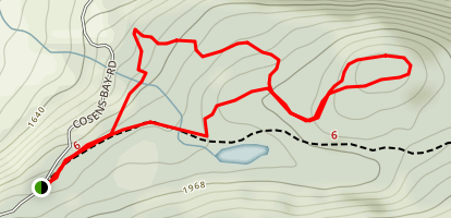 Three Rings, No Boats, Serendipity Loop Trail Map